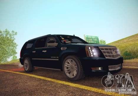 Cadillac Escalade ESV 2012 para GTA San Andreas vista direita