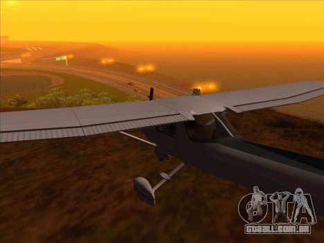 Cessna 152 v.2 para GTA San Andreas traseira esquerda vista