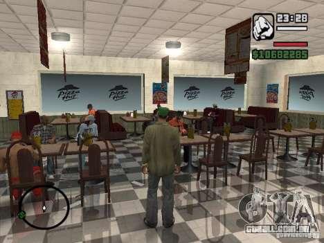 Novos restaurantes de texturas para GTA San Andreas sexta tela