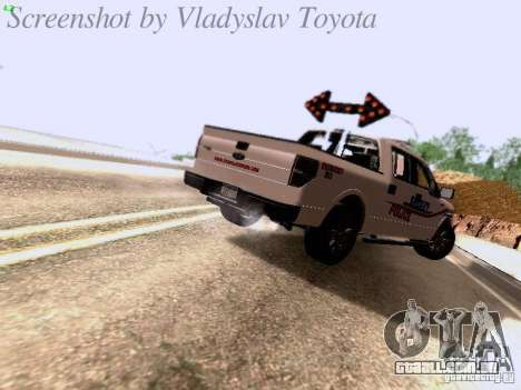 Ford F-150 Road Sheriff para GTA San Andreas vista direita