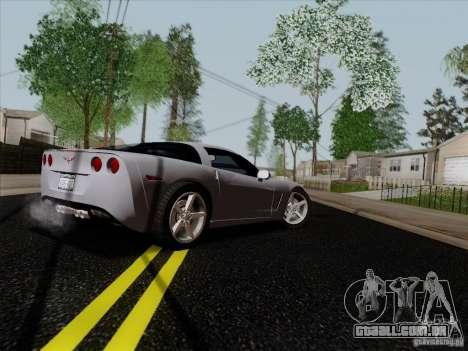 Chevrolet Corvette Z51 para GTA San Andreas vista direita
