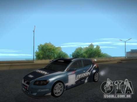 Volvo C30 Race para GTA San Andreas vista interior