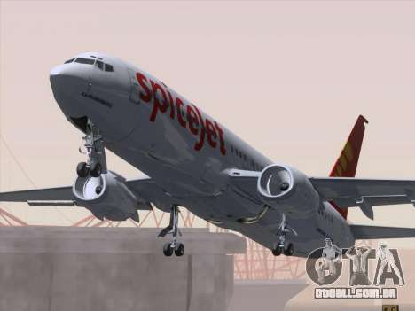 Boeing 737-8F2 Spicejet para GTA San Andreas interior