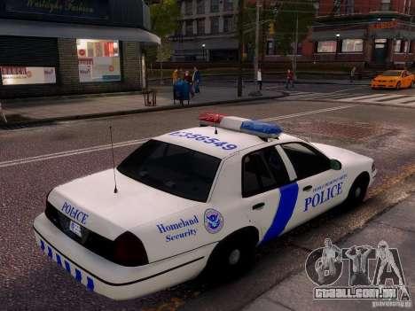 Ford Crown Victoria Homeland Security para GTA 4 vista superior