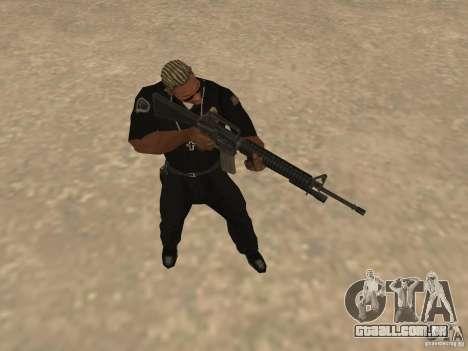 M4A1 from Left 4 Dead 2 para GTA San Andreas quinto tela