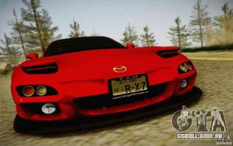 Mazda RX7 Hellalush V.2 para GTA San Andreas traseira esquerda vista