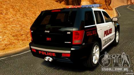 Jeep Grand Cherokee SRT8 2008 Police [ELS] para GTA 4 traseira esquerda vista