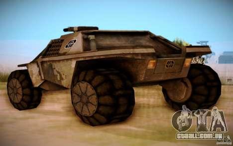 MK-15 Bandit para GTA San Andreas traseira esquerda vista
