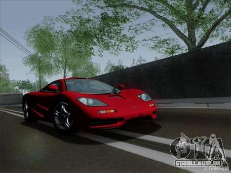 McLaren F1 1994 v1.0.0 para GTA San Andreas esquerda vista