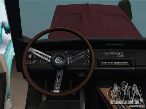 Dodge Charger 1969 para GTA San Andreas vista interior