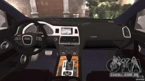Audi Q7 V12 TDI v1.1 para GTA 4 vista de volta