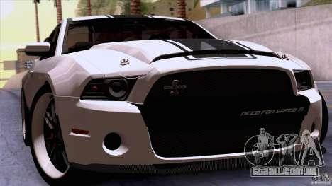 Ford Shelby GT500 Super Snake para GTA San Andreas vista traseira