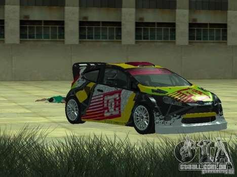 Ford Fiesta H.F.H.V. Ken Block Gymkhana 5 para GTA San Andreas traseira esquerda vista