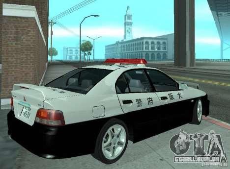 Mitsubishi Galant Police para GTA San Andreas vista direita