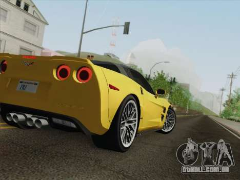 Chevrolet Corvette ZR1 para as rodas de GTA San Andreas