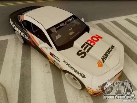 Chevrolet Camaro Hankook Tire para GTA San Andreas vista interior