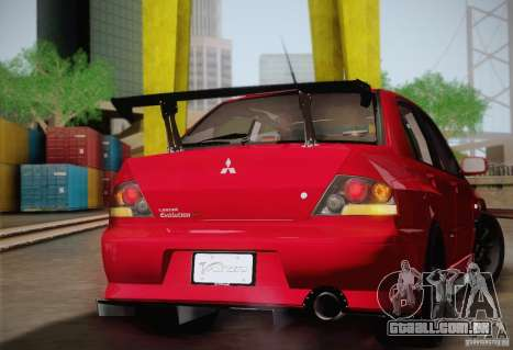 Mitsubishi Lancer Evolution VIII MR Edition para GTA San Andreas vista traseira