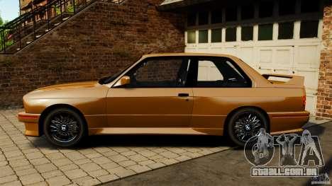 BMW M3 E30 Stock 1991 para GTA 4 esquerda vista