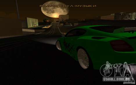 Bentley Continental GT para GTA San Andreas vista interior