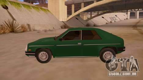 Chevrolet Chevette 1976 para GTA San Andreas esquerda vista