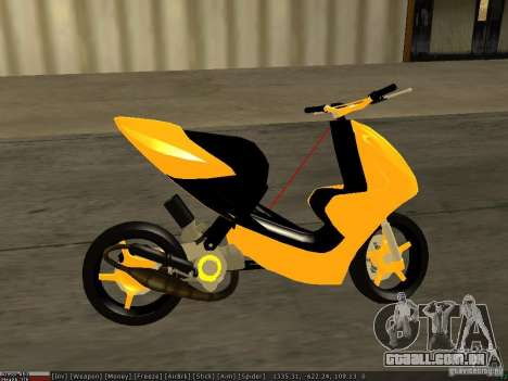 Yamaha Aerox para GTA San Andreas vista traseira