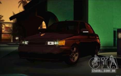 Dreno de 2110 VAZ para GTA San Andreas vista interior