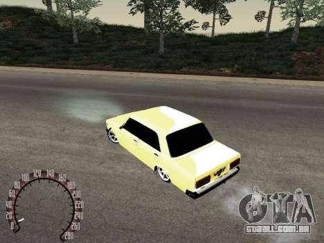 VAZ 2107 ouro para GTA San Andreas vista direita