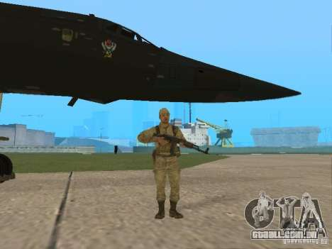Tu 160 Black Jack para GTA San Andreas vista traseira