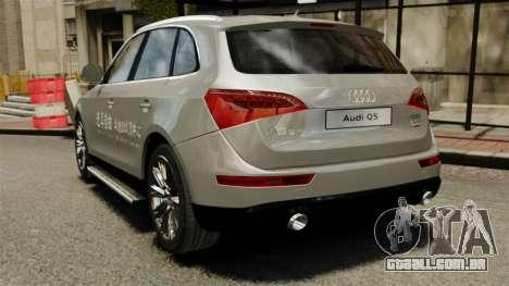 Audi Q5 Chinese Version para GTA 4 traseira esquerda vista
