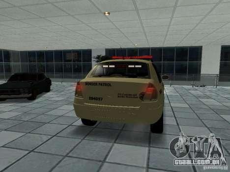 Renault Clio Symbol Police para GTA San Andreas traseira esquerda vista
