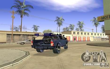 Toyota Hilux Rally Version para GTA San Andreas vista direita