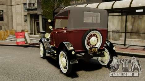 Ford Model T 1926 para GTA 4 traseira esquerda vista