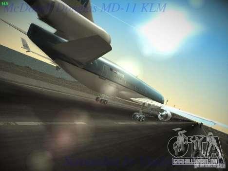 McDonnell Douglas MD-11 KLM Royal Dutch Airlines para GTA San Andreas vista traseira