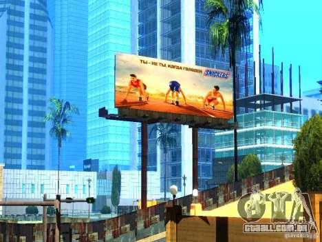 Novas texturas de Los Santos para GTA San Andreas por diante tela