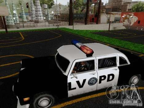 Cabbie Police LV para GTA San Andreas esquerda vista