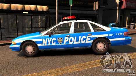 Chevrolet Caprice 1993 NYPD para GTA 4 esquerda vista