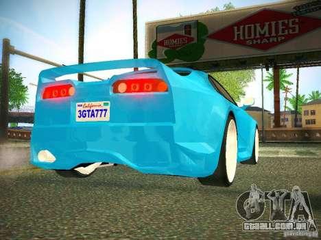 Toyota Supra VeilSide Fortune 2003 para GTA San Andreas vista traseira
