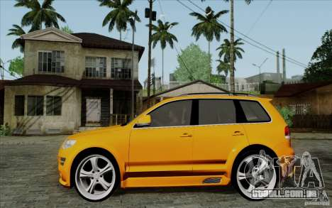 Volkswagen Touareg R50 Light para GTA San Andreas esquerda vista
