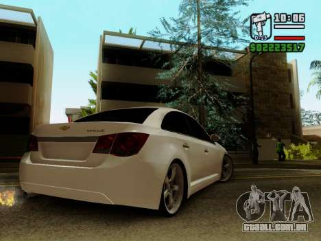Chevrolet Cruze para GTA San Andreas esquerda vista