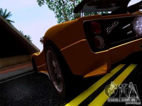 Pagani Zonda C12S Roadster para GTA San Andreas vista direita