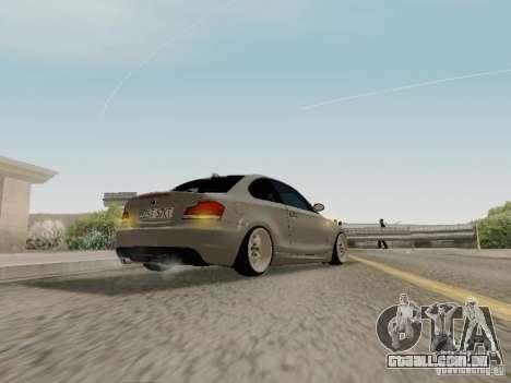 BMW 135i para GTA San Andreas vista direita