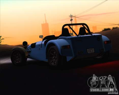 Caterham Superlight R500 para vista lateral GTA San Andreas