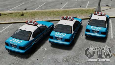 Declasse Merit Police Cruiser ELS para GTA 4 vista de volta