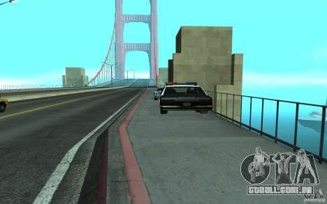Polícia na ponte, San Fierro para GTA San Andreas segunda tela