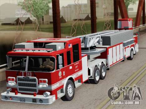Pierce Arrow XT LAFD Tiller Ladder Truck 10 para GTA San Andreas vista superior