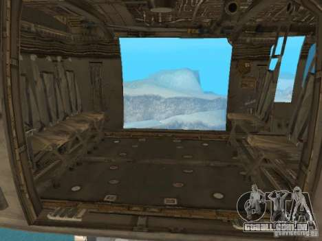 O UH-60 do COD MW3 para GTA San Andreas vista direita