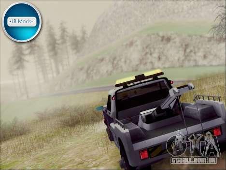 New Towtruck para GTA San Andreas esquerda vista