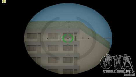 Mira óptica de GTA 5 para GTA Vice City por diante tela