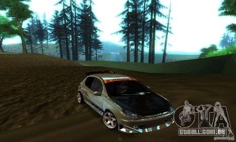 Peugeot 206 Tuning para GTA San Andreas vista interior