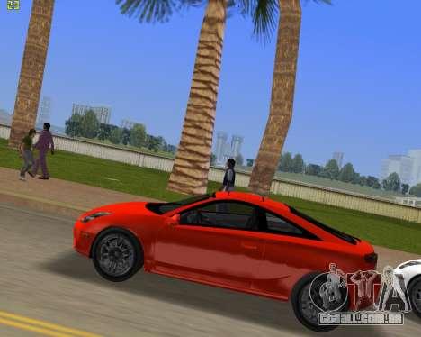 Toyota Celica 2JZ-GTE preto Revel para GTA Vice City deixou vista